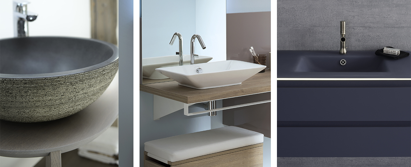 Tables avec vasques intégrées