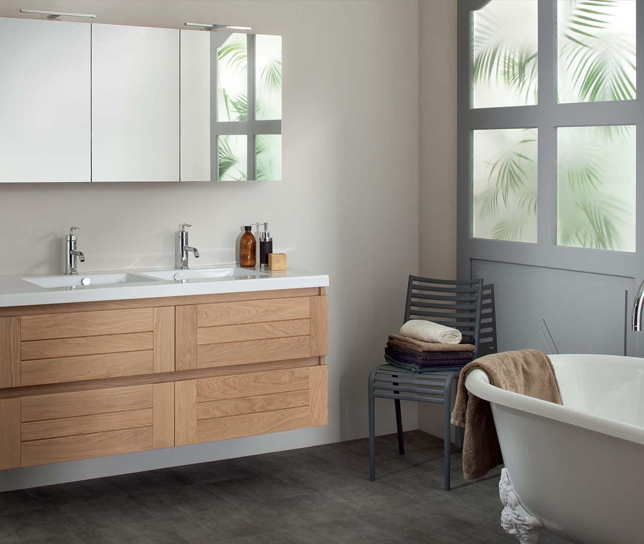 Gamme Lignum, meuble salle de bain bois - Sanijura