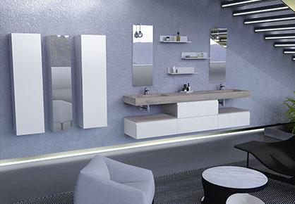 meuble de salle de bain Infinie Bleu - Sanijura