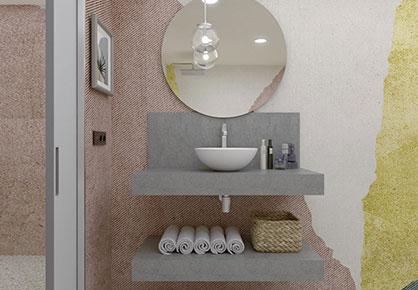 meuble de salle de bain Infinie hotel - Sanijura