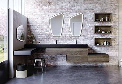 meuble de salle de bain Infinie industriel - Sanijura