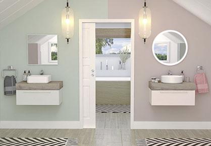 meuble de salle de bain Infinie pastel - Sanijura