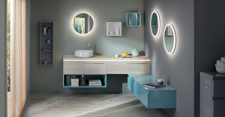 Salle de bain bois illusion  - Sanijura