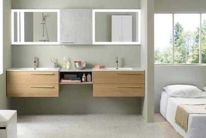 salle de bain bois massif - Sanijura