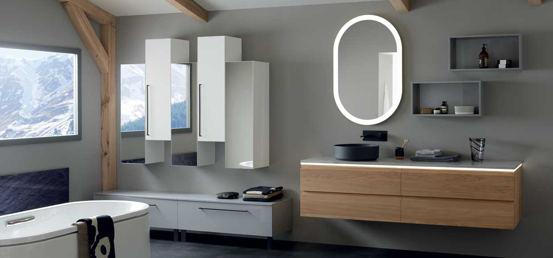 meuble de salle de bain lumen chêne - Sanijura