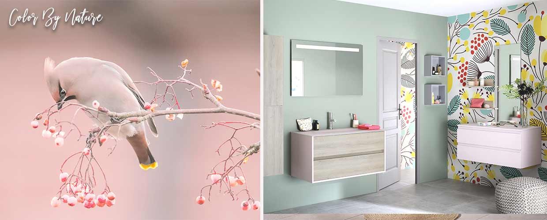 meuble de salle de bain Frame rose - Sanijura