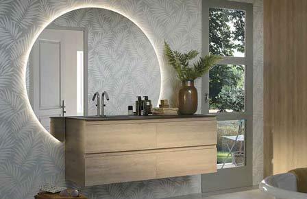 salle de bain lumen bois massif - Sanijura