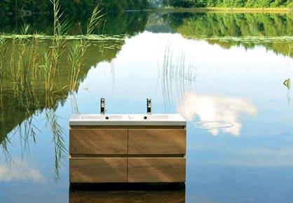 salle de bain lignum bois massif - Sanijura